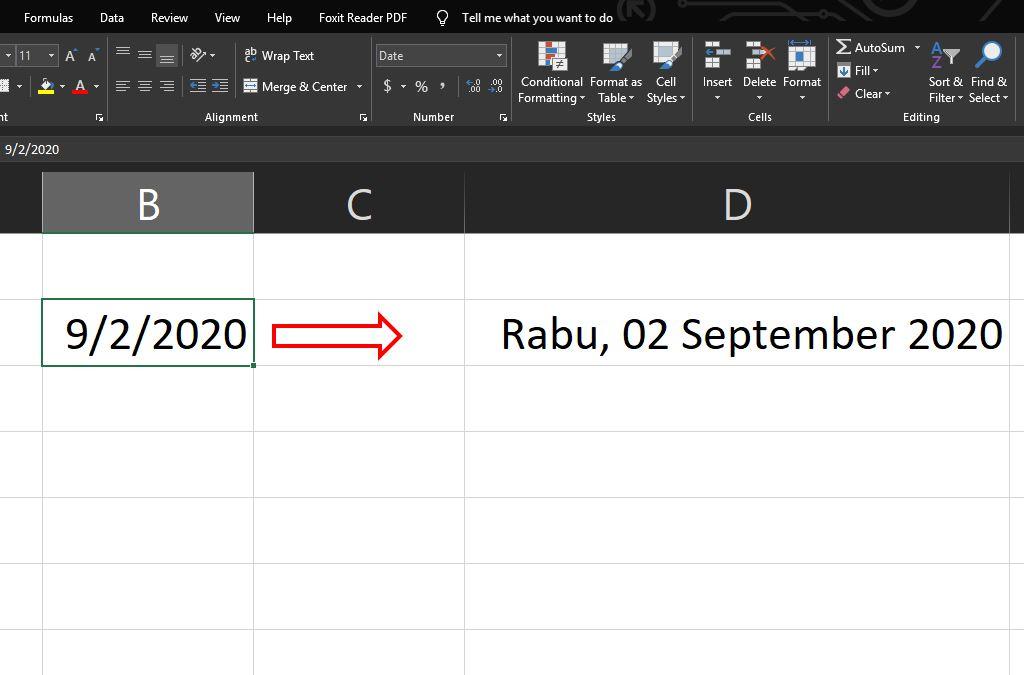 cara mengubah format hari dan tanggal berbahasa ingris ke bahasa indonesia pada microsoft excel