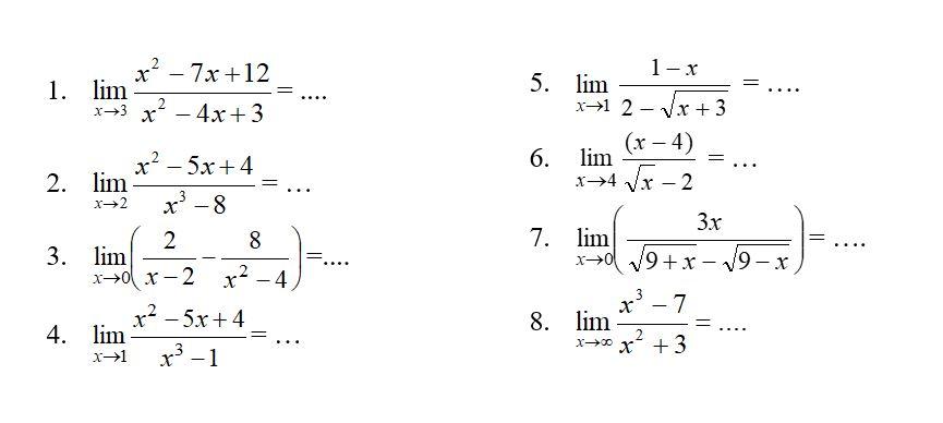Materi Dan Contoh Soal Limit Fungsi Aljabar Matematika Kelas 11