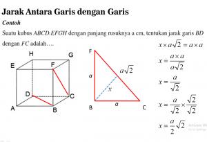 jarak dimensi tiga matematika kelas xii