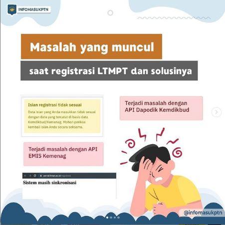 Masalah yang sering terjadi pada pembuatan akun LTMPT